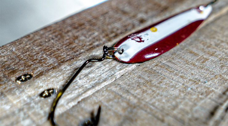Ned Rig ElaZtech Damage to Pike Spoons