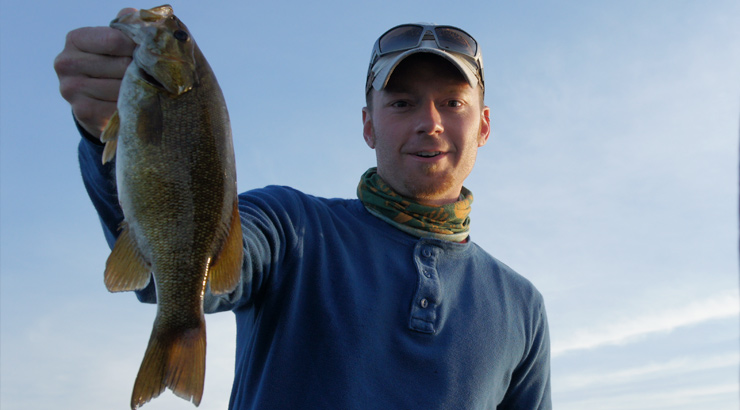 Early Morning Ned Rig Smallmouth Bass