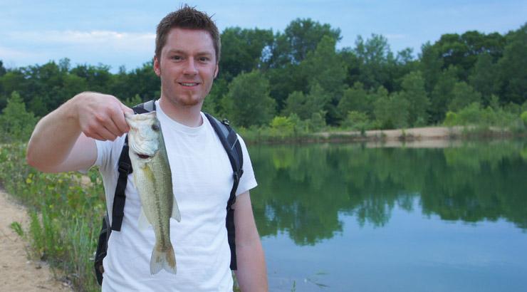 AJ Hauser Fishing The Pit