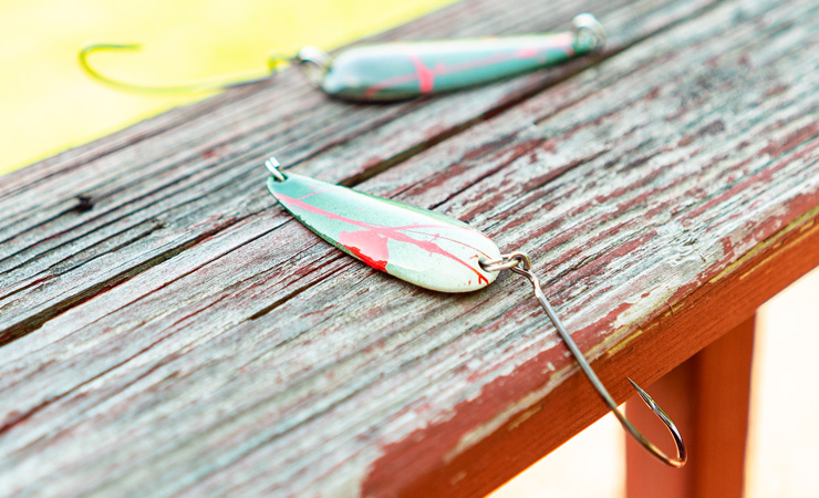 Repainting Spoons for Pike with WalMart Supplies