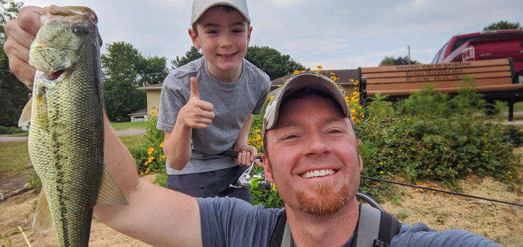 AJ Hauser Fishing with Kids