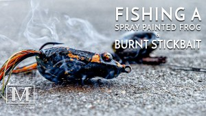 Fishing a Spray Painted Frog & Burnt Stickbait
