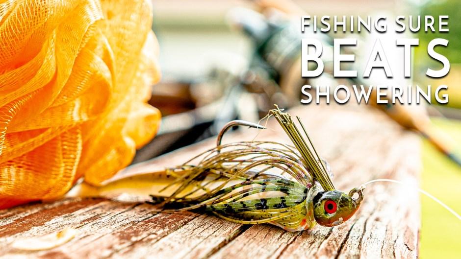 Fishing for Bass Sure Beats Showering