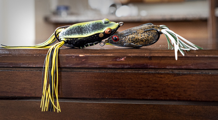 Trimmed Up Topwater Frog Bass Baits
