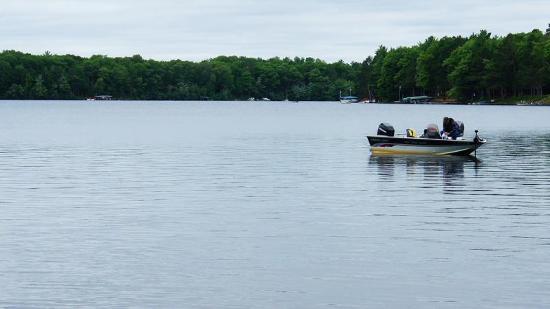 dad fishing wisconsin boat lake