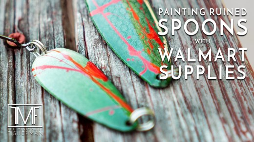 Painting Ruined Spoons with Walmart Supplies