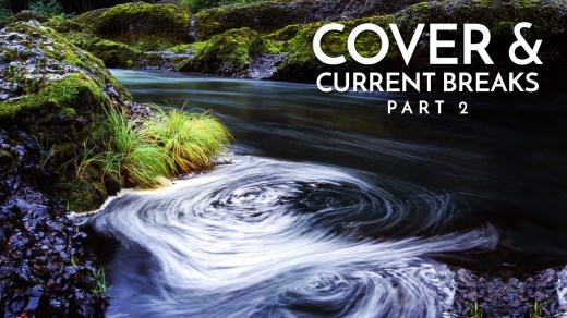 Cover and Current Breaks that form Eddies in Rivers and Streams