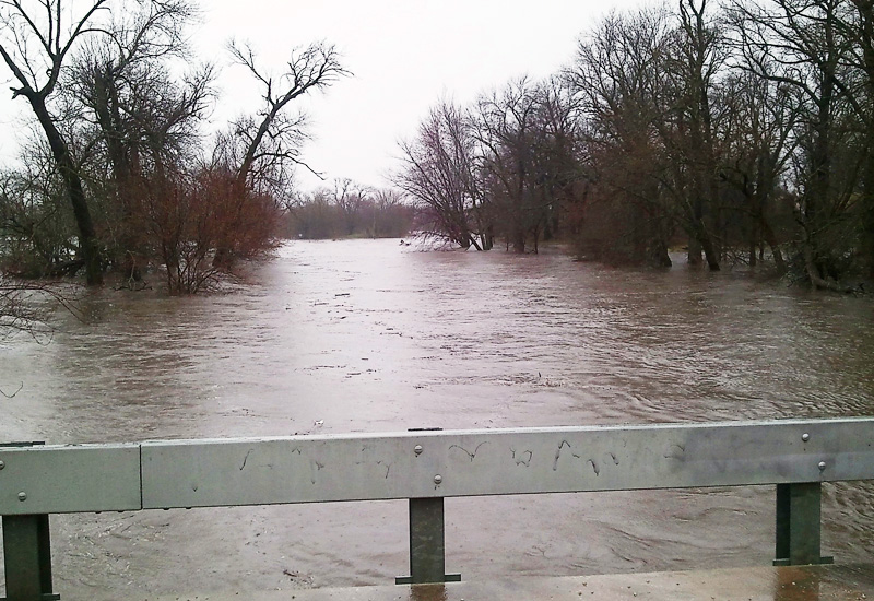 Flooded Bridge in Illinois