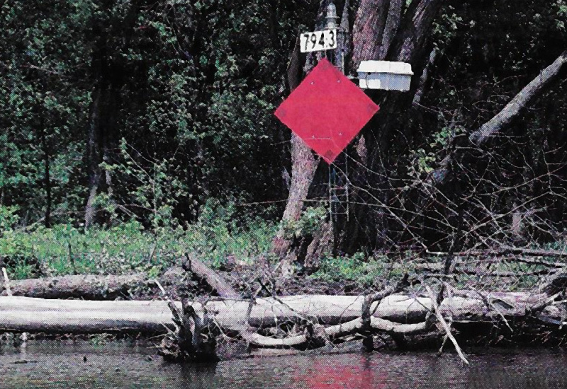 Mile Markers on the Mississippi River