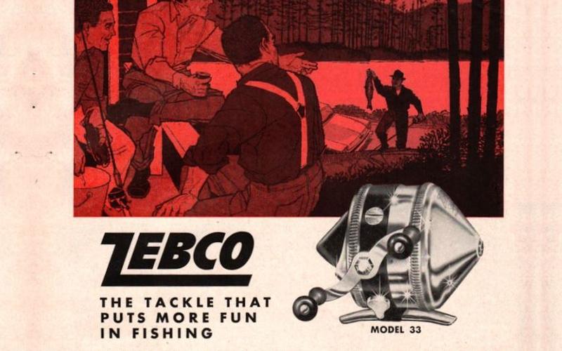 Zebco Model 33 Fishing Reel Ad