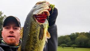 AJ Hauser with a Beautiful 5 Pound Largemouth Bass