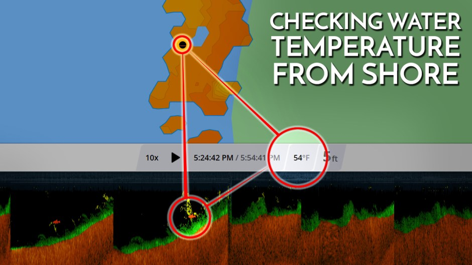 Checking Water Temperature From Shore Deeper Sonar