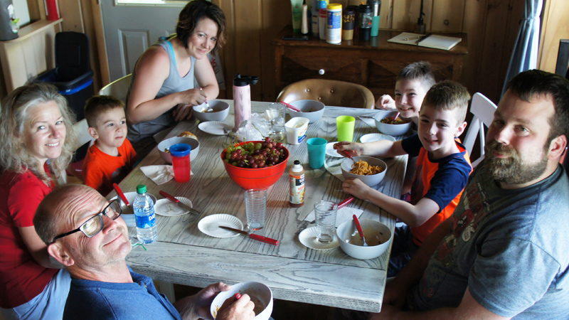 Family Meal after Fishing