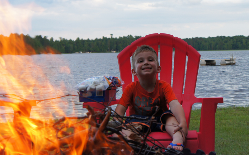Vacation Wild Rice Lake Wisconsin Smores S'mores after Fishing