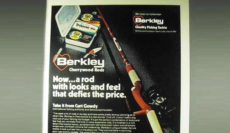 Berkley Cherrywood Rod Ad from the 1970s