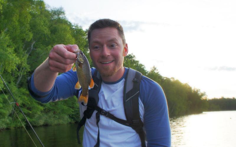 Tiny SMallmouth Bass in Wisconsin