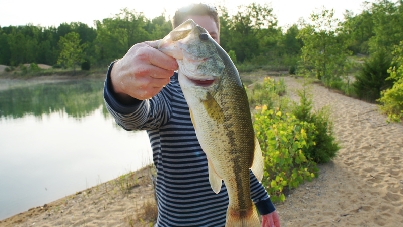 Early Morning Pit Bass in Illinois AJ Hauser