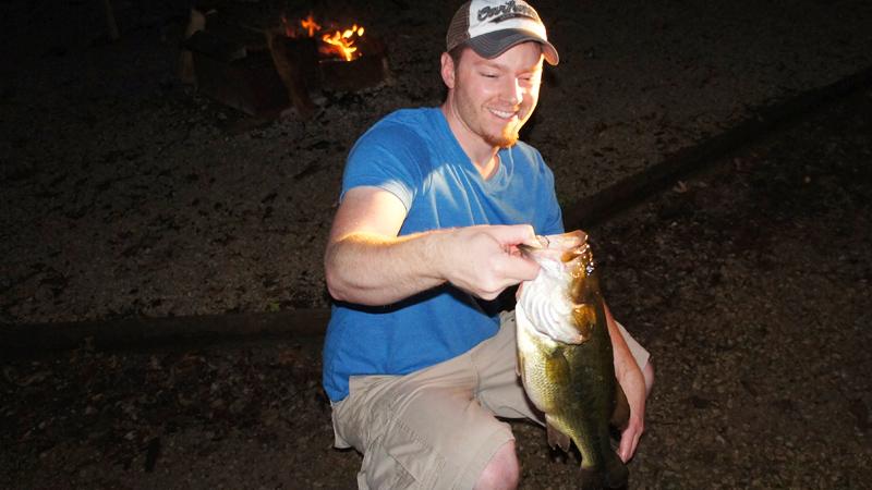 AJ Hauser Largemouth Bass on a Warm Summer Evening Pot Belly Bass
