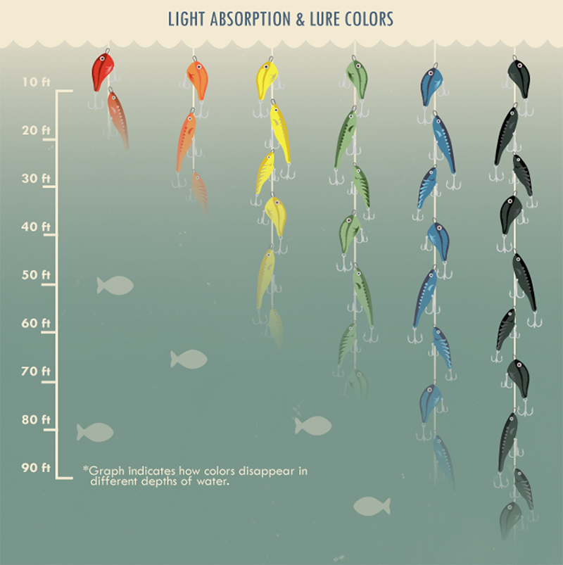 Light Absorption and Lure Color Underwater