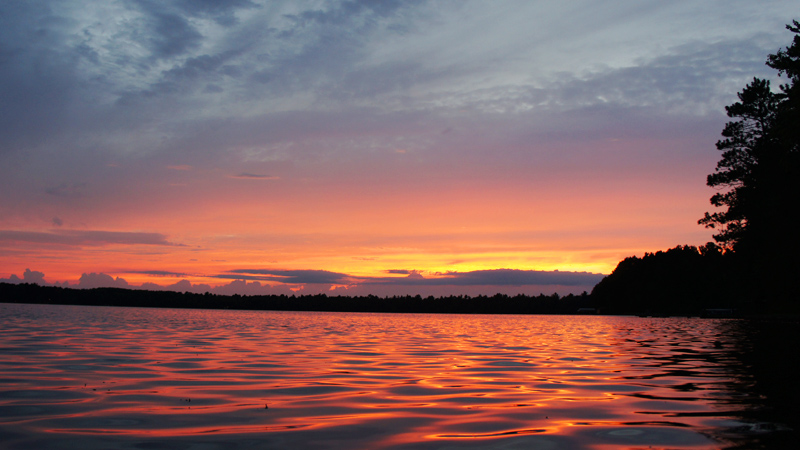 Wisconsin Sunset on the Lake