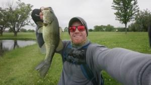 cabin creek salty sinkin worm largemouth bass
