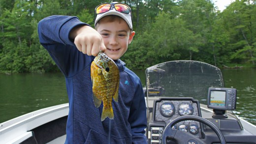 Short #9 Huge Bluegill Pees in our Boat