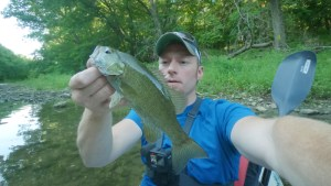 Smallmouth Bass on a Ned Craw & Jig in a Creek